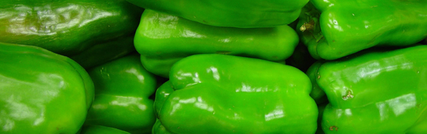 green peppers / capsicums